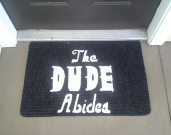 The Dude Abides Welcome Mat