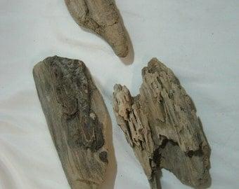 Driftwood Pieces - 3 Bulk Driftwood Pieces - Driftwood Beach Decor - Craft Supplies