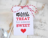 Printable Sweet Treat Valentine's Gift Tags - INSTANT DOWNLOAD