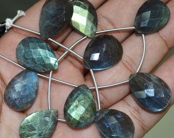 Flashy Labradorite Pear Faceted