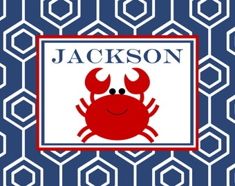 Personalized Placemat - crab