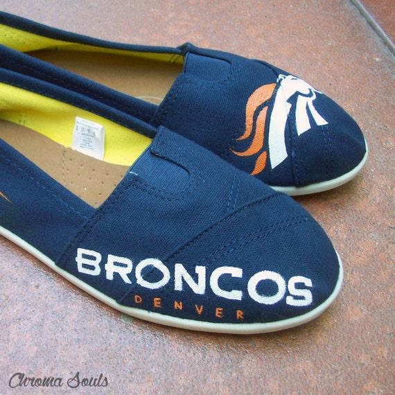 Denver Broncos Handpainted shoes