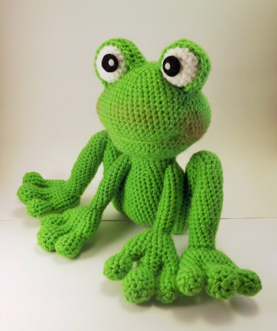 froggy amigurumi pattern frog crochet pattern pdf file only doll not included from. Black Bedroom Furniture Sets. Home Design Ideas