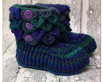 Free Crochet Pattern For Crocodile Stitch Boots : Crocodile stitch Etsy