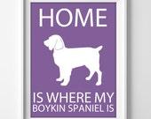 "8x10"" Boykin Spaniel Wall Art, Illustrated Dog Art, Boykin Spaniel Decor, Dog Breed Wall Art, Minimalist Pet Art, Puppy Print, Spaniel Gift"
