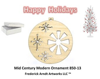 850-13 Mid Century Modern Christmas Ornament