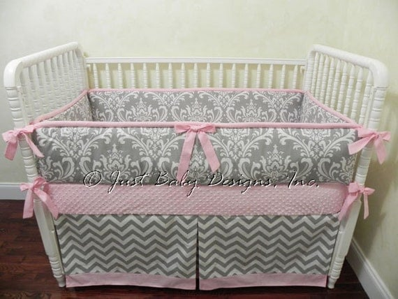 Custom Baby Bedding Set Hope Girl Crib Bedding Pink And