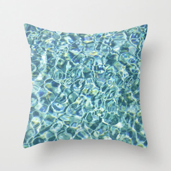 Pillow Cover Blue Aqua Marine Pool Water Throw by NatureCity