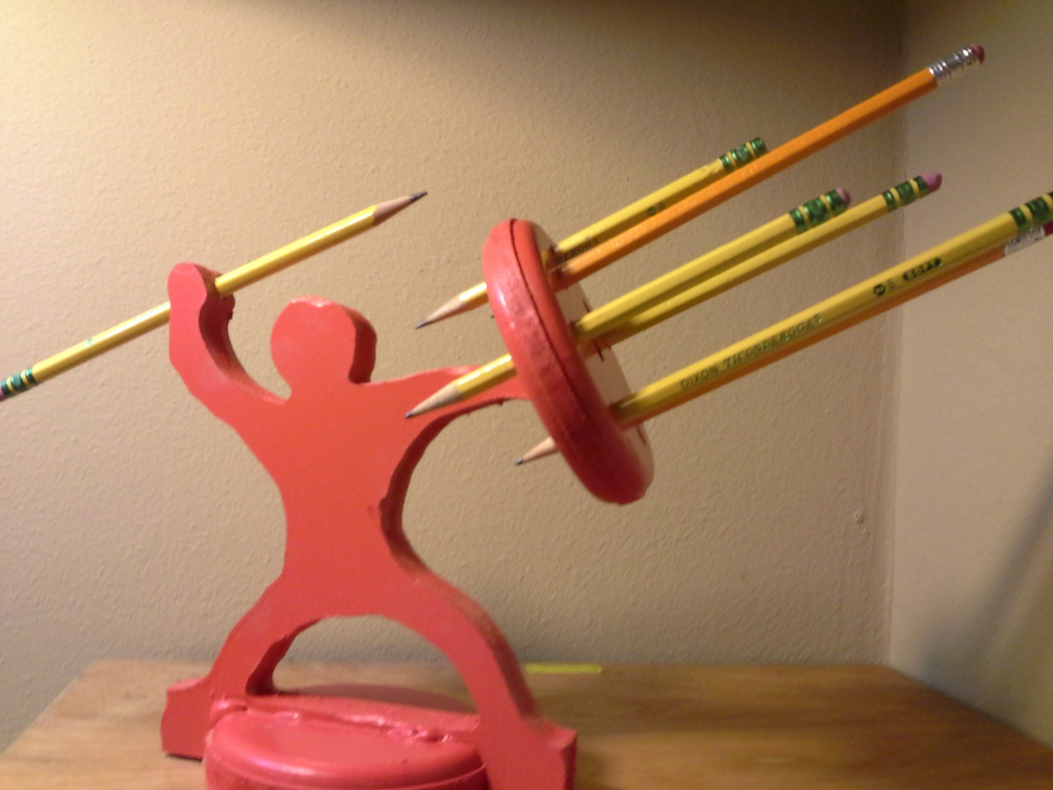 Pencil holder warrior the most awesome pencil holder ever Cool pencil holder ideas