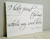 Made to Order Song of Solomon Pallet Sign - Distressed Wall Decor