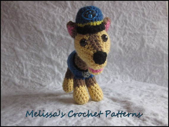 Custom Paw Puppy Chasel Crochet Stuffed Animal
