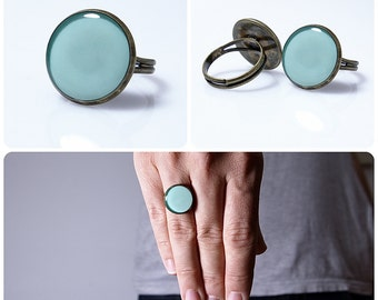 Grayed Jade Ring Gray Jade Jewelry Spring Color 2013 Nephrite Color Pastel Round Ring Gray Jade Nephrite Gray Green