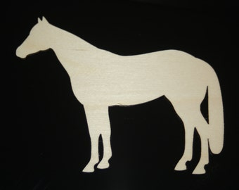 Wooden horse cutout, large