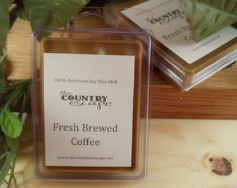 Fresh Brewed Coffee Scented 100% Soy Wax Melt - True Coffee Scent- Maximum Scented