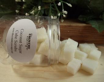 Coconut Sugar Cube Scrubs- with Jojoba Oil- Gentle Exfoliation