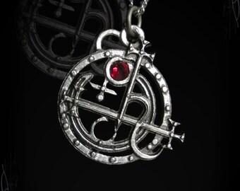 Handmade Sigil of Lilith pendant, Sceal of Lilith pendant, gothic jewelry, Lilith, wicca pendant, satanism, luciferianism, daemon