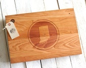 Custom City, State or Country Personalized Cutting Board Circle Design