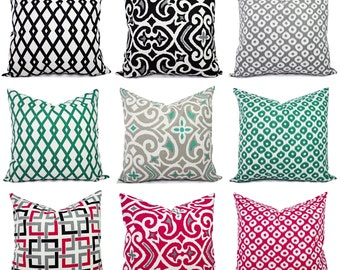 Decorative Pillow Cover - Black Pillow Cover - Green Pillow Cover - Pink Pillow Cover - Decorative Pillows - Robert Allen Pillows