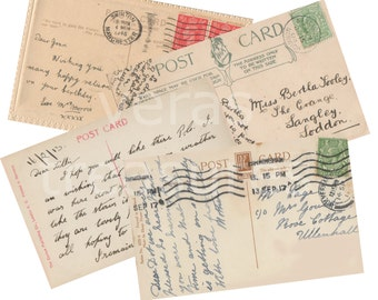 Blank Postcard vintage style Digital Images for card making or Crafts (pack 1)