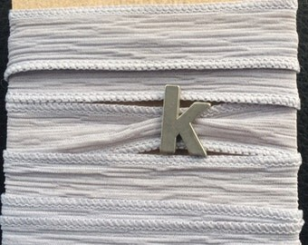 Silk Wrap Bracelet with Initial