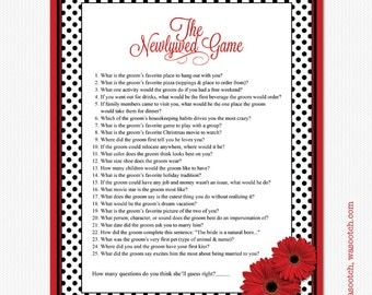 black and white polka dot bridal shower newlywed game instant