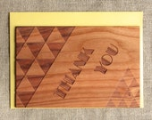 Thank You Card - Triangle Wood Card - Geometric Cards