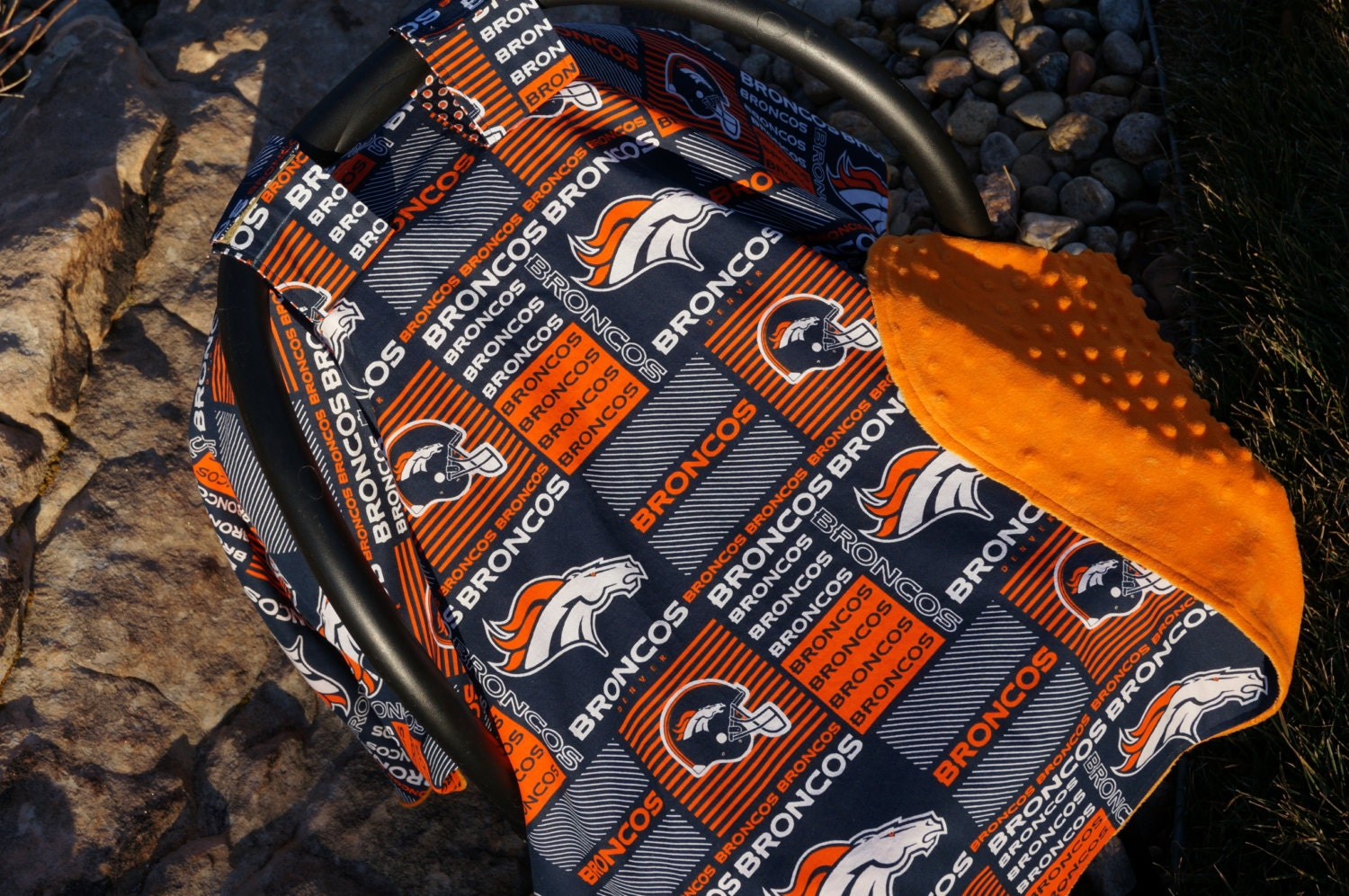 New Denver Bronco S Print Car Seat Canopy By