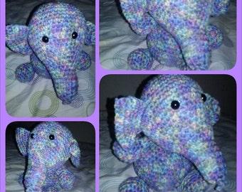 Multicolor Elephant Stuffed Animal - Monet