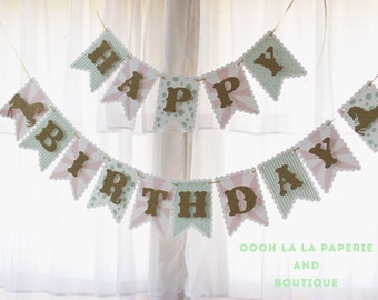MADE TO ORDER Glitter Carousel Happy Birthday Banner