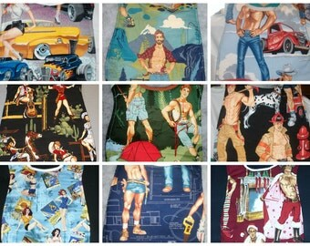 Handmade Adult Clothing Protector- Pin Ups and Sexy Guys