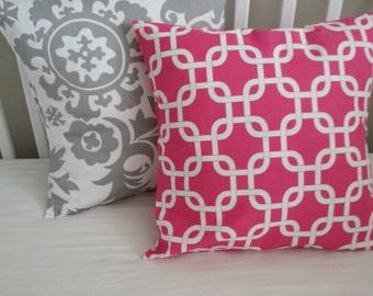 Pillow Cover-- Premier Prints Candy Pink Gothca home decor, nursery -Envelope Closure