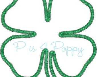 Saint Patrick's day four leaf clover applique design