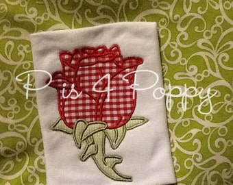 rose applique design