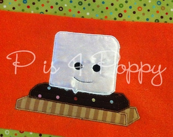 Smore applique design instant download