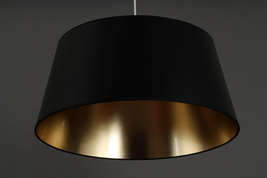 deckenlampe schwarz gold metropol durchmesser unten 50 cm. Black Bedroom Furniture Sets. Home Design Ideas