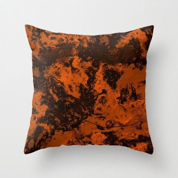 housse de coussin en marbre orange orange couverture coussin. Black Bedroom Furniture Sets. Home Design Ideas