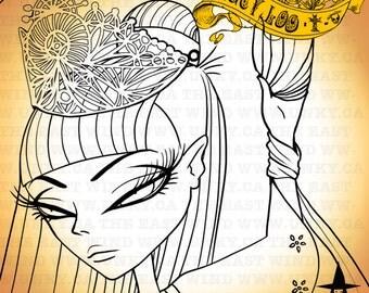 Digital stamp-Lucy Loo 'Chinese Dancer'- 300 dpi JPG/PNG files - MAC0077