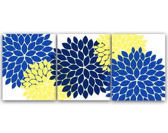 Bathroom Wall Art, INSTANT DOWNLOAD Bath Art, Printable Modern Bedroom Decor, Blue and Yellow Nursery Art, Home Decor - HOME44