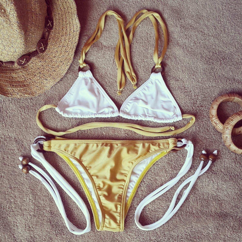 Camille Kostek Si Blue: Farrah Bikini-two Piece Swimsuit Show Off Your Tan By