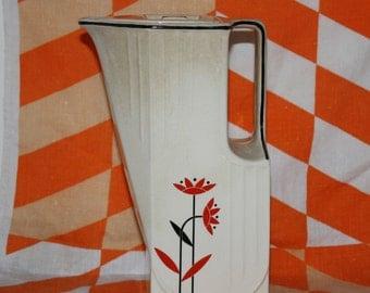 Vintage Harker Pottery Company Daisy Pattern Water Milk Pitcher
