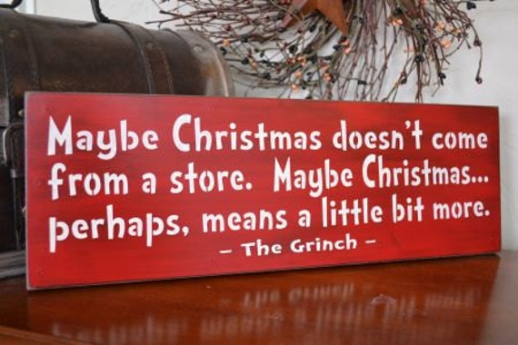 Items Similar To Maybe Christmas Doesn't Come From A Store