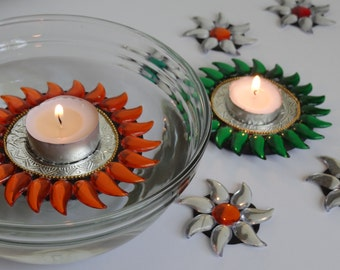 Floating tealight candle holder- Set of 9