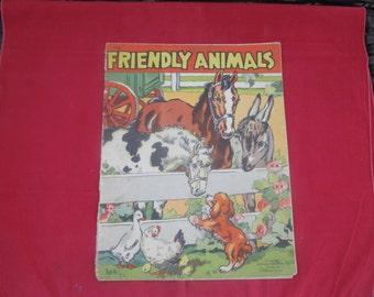 Kids book; 1940's Animal Storybook;