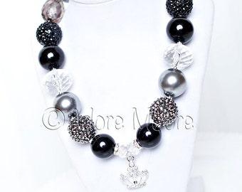 Princess Necklace, Kids Necklace, Chunky Necklace, Chunky Bead Necklace, Child Girls Necklace