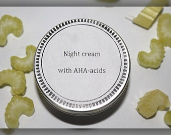 Night anti-age cream with AHA-acids (5%)