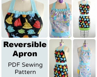 Fully reversible apron  - PDF Sewing  pattern