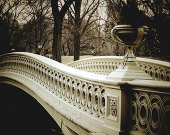 Bridge At Central Park - Bow Bridge - Winter Tones - Central Park Photography - Wall Art Decor - Landscape