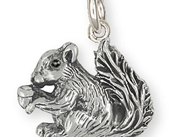 Silver Squirrel Charm Jewelry -  SQ2-c
