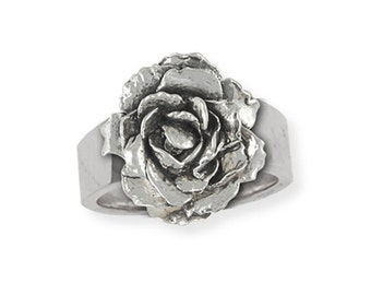 Sterling Silver Peony Flower Ring Jewelry PNY-R