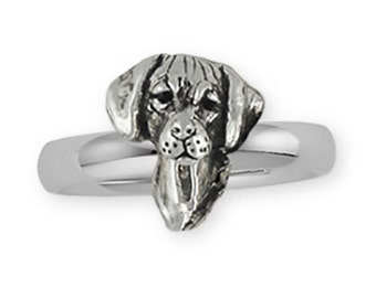 Solid Silver Rhodesian Ridgeback Dog Ring Jewelry RDG8-R